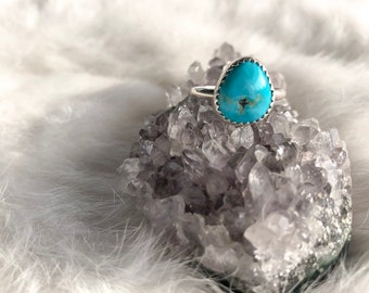 White Water Nugget Ring Size 6 3/4
