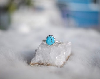 Turquoise Mountain Turquoise Ring Size 6