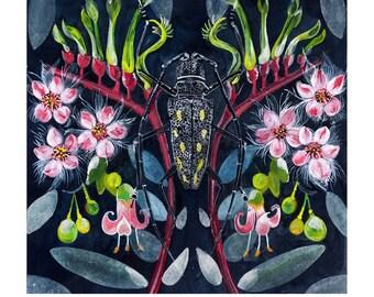 A3 Print Longhorned Beetle