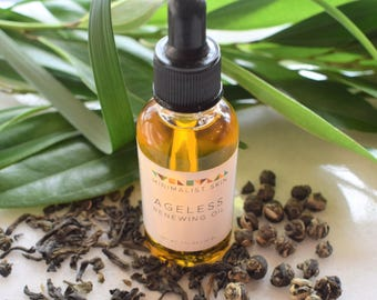 Green-Tea Infused Face Oil with Rosehip & Carrot Seed Oils - 1 oz | Natural, Organic, Vegan Anti-Aging Facial Serum