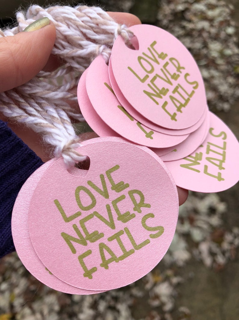 Gift Tags Love never fails JW convention  2019 convention  jw quotes  jW  Gifts  convention gift ideas  jw gifts ideas