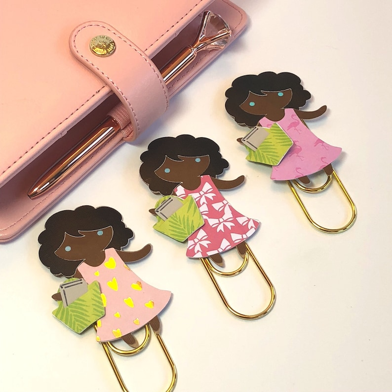 Biblical Planner clip JW Service girl Jumbo Paperclip Bookmark Leah Magnet Gold Paperclip