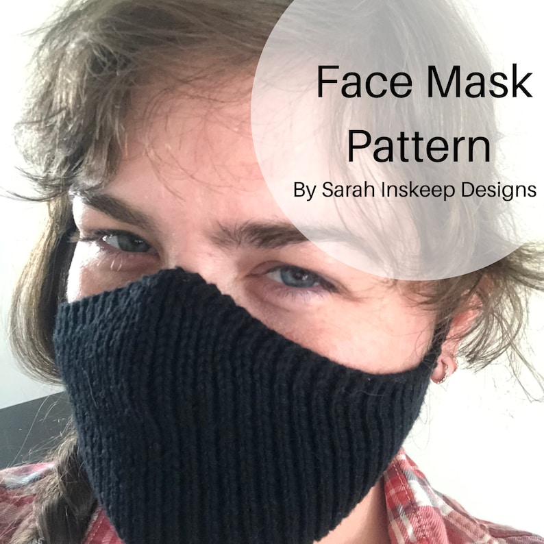 Face Mask Pattern Knitting Pattern Face Mask Washable Face image 0