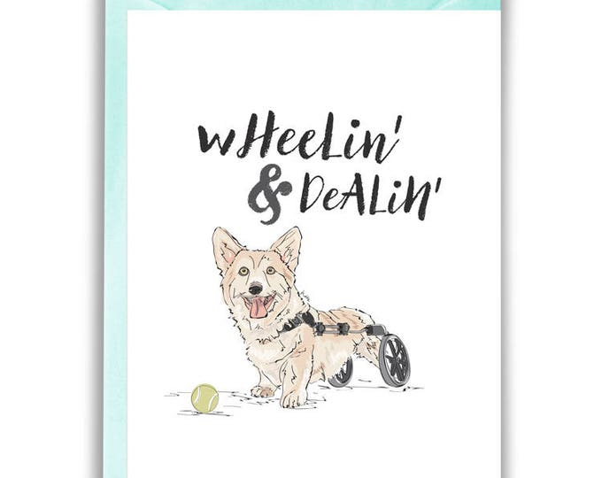 Wheelin' & Dealin' Greeting Card (Inspirational, Get Well)