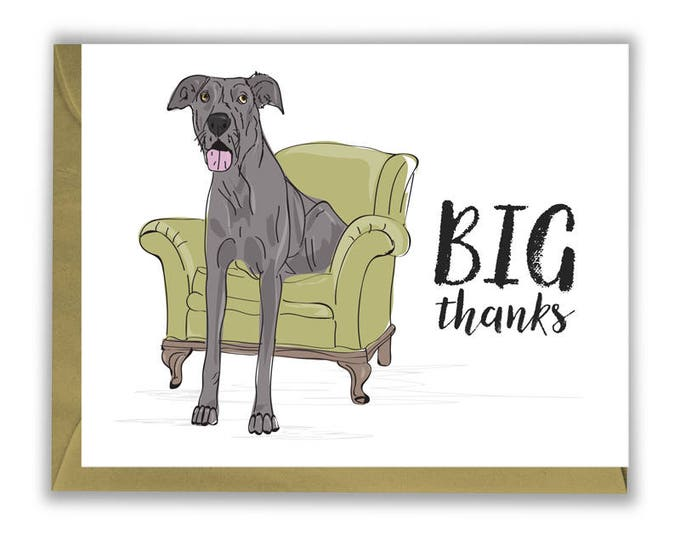 Big Thanks - Thank you cards - Great Dane