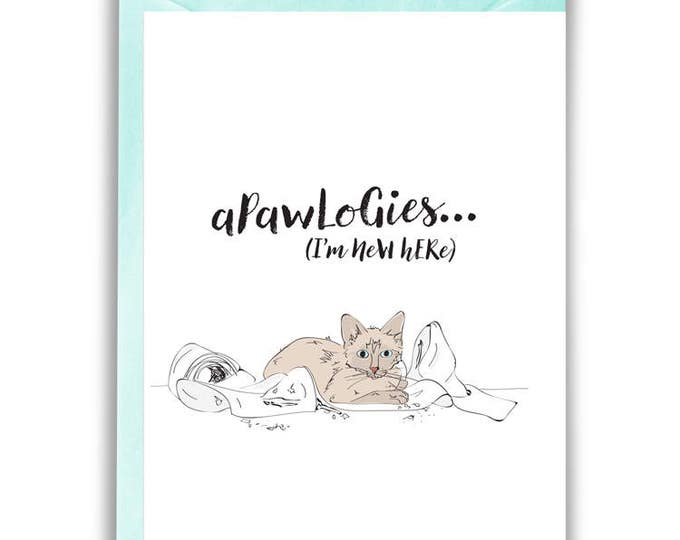 Apawlogies, Kitty Greeting Card