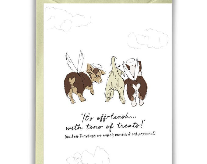 Sympathy Card Dog Corgi - Pet Loss (Bulk 25 Count)