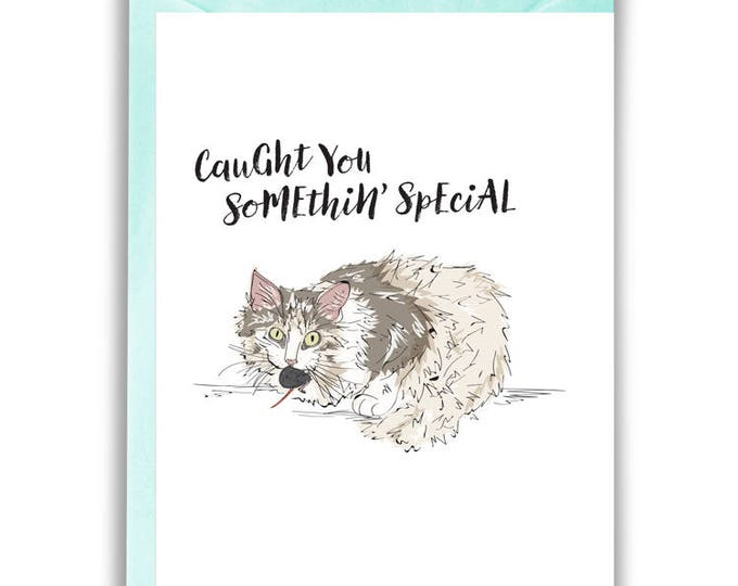 Caught You Somethin' Special, Kitty Greeting Card