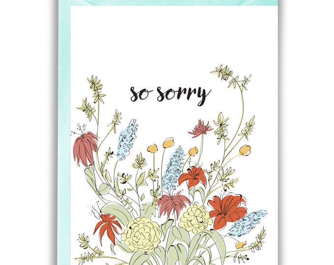 So Sorry Greeting Card (sympathy, support, pet loss)