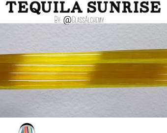 Tequila Sunrise 1st Quality Rod by Glass Alchemy