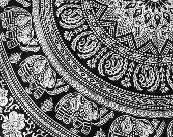 Wall Tapestries Black And White Tapestry Bohemian Boho Decor Art Mandala Dorm Room Gypsy Bed Cover Elephant Yoga