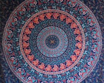 Boho Decor Tapestry Mandala Wall Hanging Large Wall Art Yoga Decor Boho Art Bohemian Twin Sheets Elephant Tapestry Wall Art Bedroom Decor