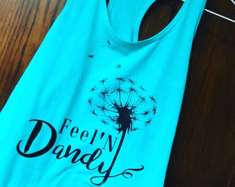 Feeling dandy tank-dandelion-summer tank