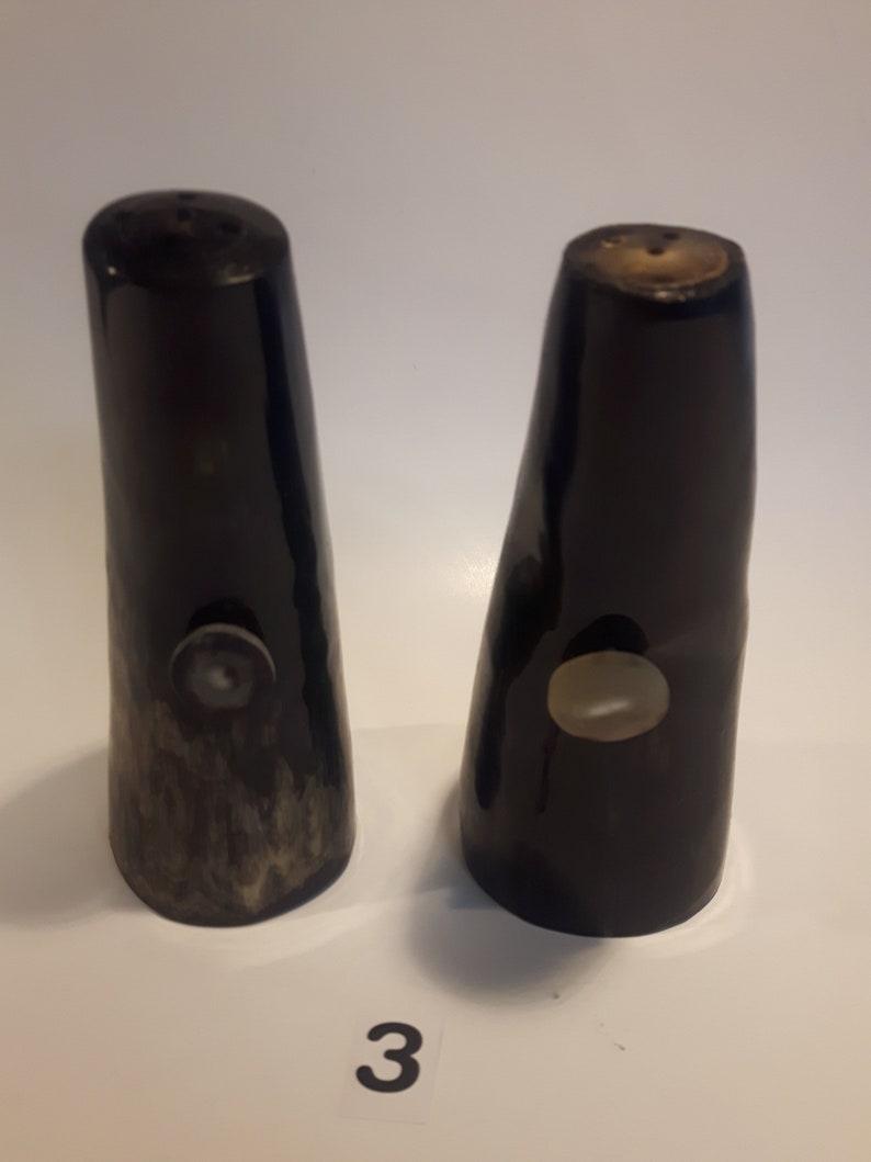Cowhorn Salt /& Pepper Shakers