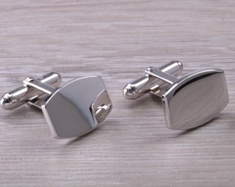 made from solid sterling silver traditional cufflinks with swivel back fittings. Hand Engraved Gentleman/'s Cufflinks Oval profile