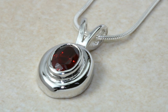 Natural Ruby Pendant.Silver Ruby Pendant or Necklace.July birthstone,Capricorn Zodiac Gemstone.Ruby Anniversary.16th,18th,21st Birthday Gift