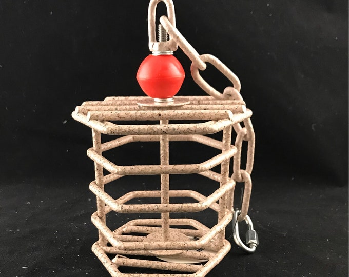 Featured listing image: Baffle Cage Foraging Parrot Toy, Small, Pewter