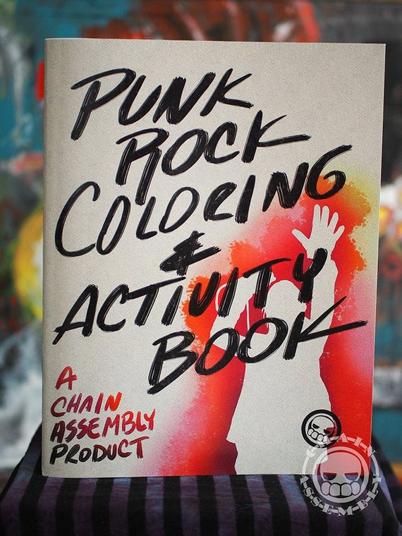 Punk Rock Coloring Book, 40 pages including cover. 8 1/2\