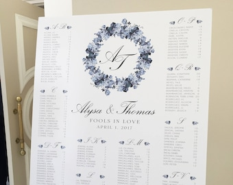 ADD ON ONLY: Additional Revision to Wedding Seating Chart - 150-300 Guests