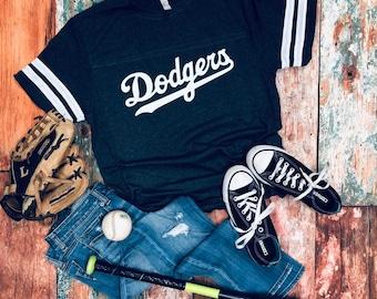 a264b3001 Dodgers Spirit Wear, Baseball Number Tee, Baseball Mom Tee, Any Team,  Number on Back
