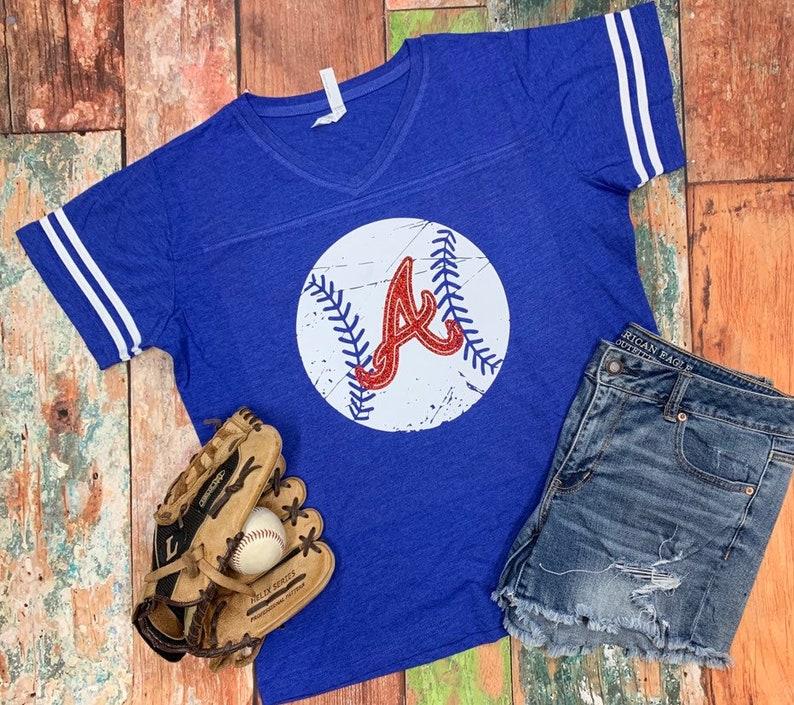 45c45252b50 Atlanta Braves Spirit Wear Braves Atlanta Braves Baseball | Etsy