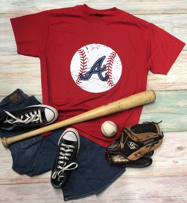brand new a94e8 85520 Atlanta Braves, Vintage Braves Tee, Baseball Tee, Love Baseball, Unisex Tee