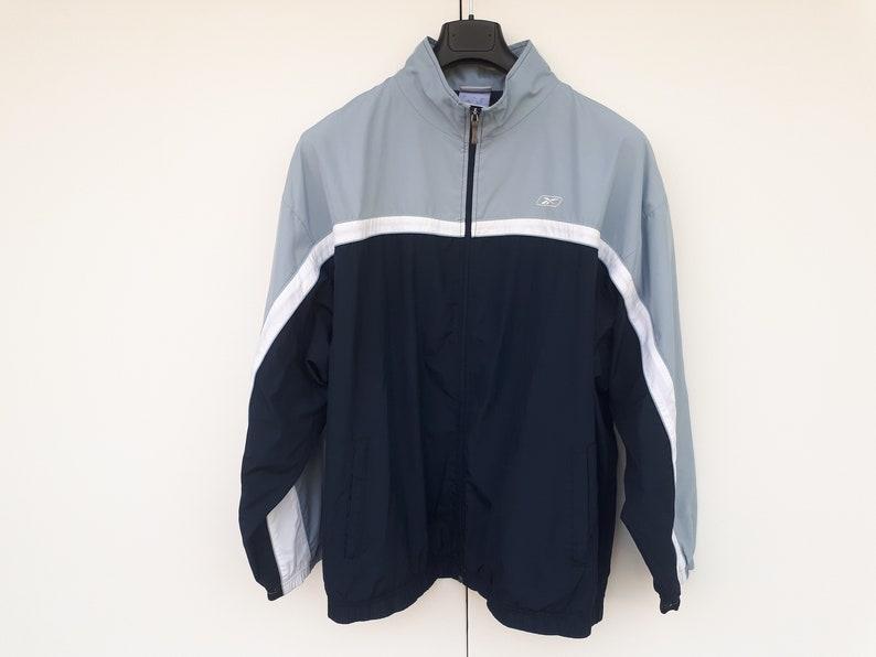 fdff6ef0987cd Jacket Reebok vintage 90's blue jacket Navy blue sky, jacket XL