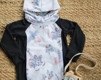 7185ca2c0 Evolutionary Hoodie-tunic-Hoodie dress-sweater-child-baby-floral-Unicorn  black