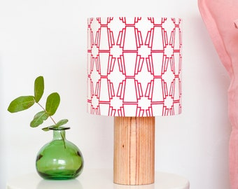 Red geometric hanging lampshade