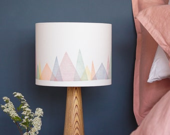 Colourful mountains lampshade for table lamp