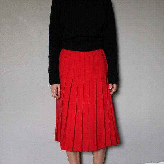 Vintage wool skirt • Aljean • Made in Canada • 100