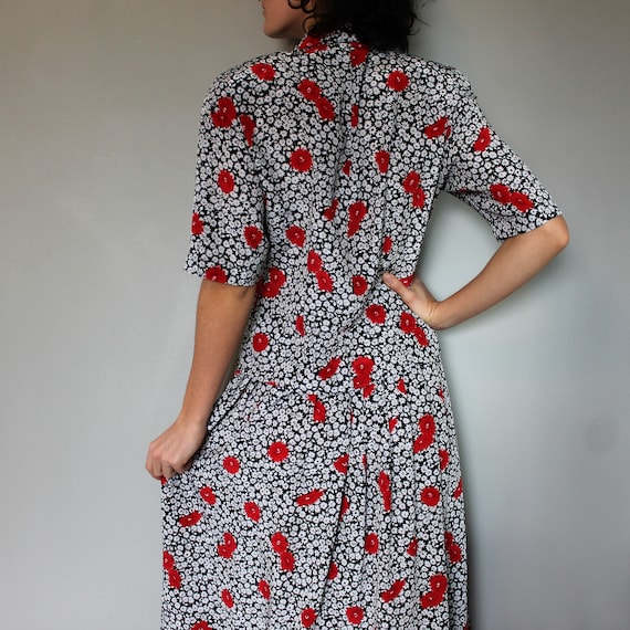 Vintage 1980s two piece set • Skirt and top • Flo… - image 3