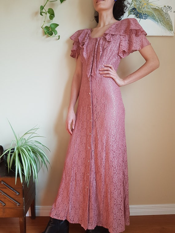 Beautiful 1970s/1980s vintage dress • 1980s Prom d