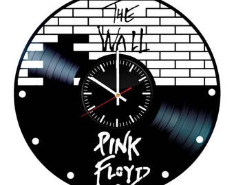 Pink Floyd The Wall Vinyl Clock - Music Band Vinyl Record Wall Art Handmade Decor - Best Original Vintage Gift For Music Fans Decoration