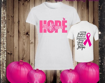 HOPE Breast Cancer Awareness Tee- Avail in family Sizing