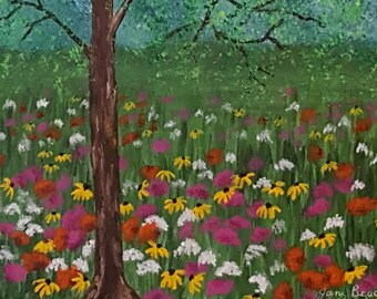 springtime meadow flowers
