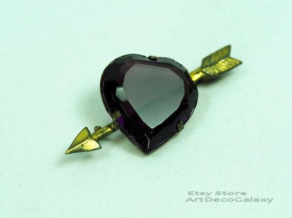Antique Heart & Arrow Brooch-1900s