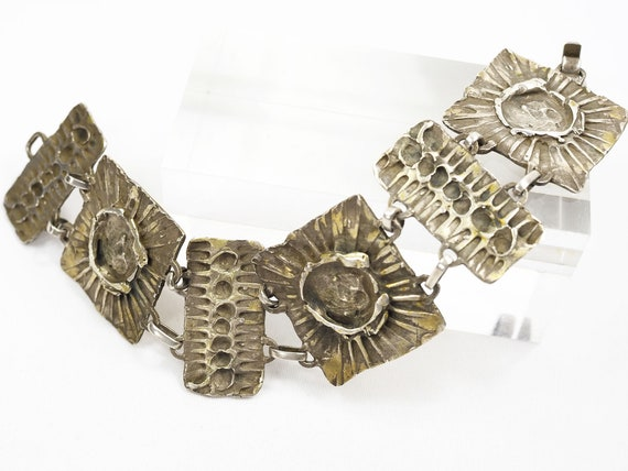 Mid-Century Modern Sterling Silver Brutalist Brace