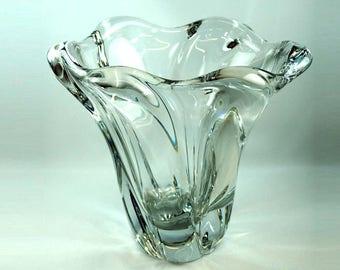 Daum Large Crystal Vase