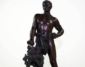 Antique Bronze Sculpture Signed O. Morath