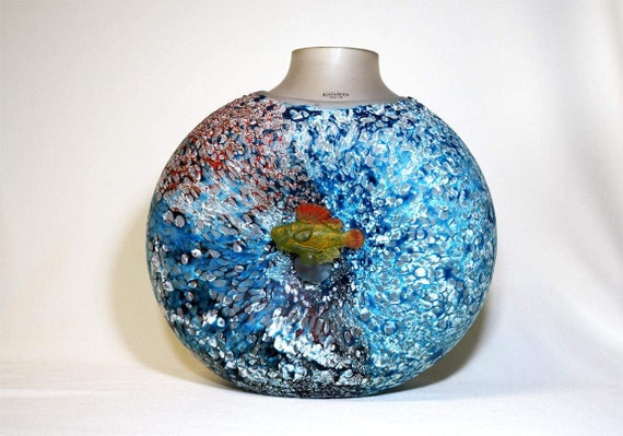 Kosta Boda Rare Very Large Reef Collection Vase Etsy