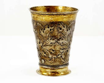 Antique German Silver Wine Beaker