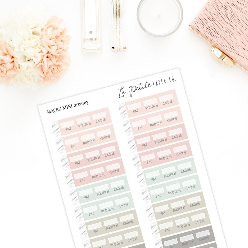 Macro Planner Stickers   Keto Stickers   Fat Protein Carb Counter   Erin  Condren   TN Planner   Daily Weekly Monthly