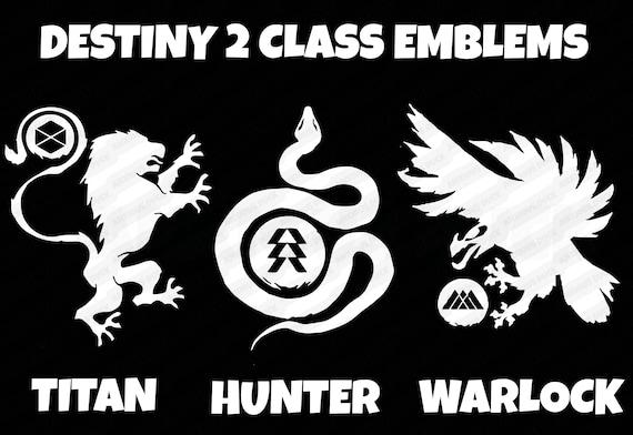 Destiny 2 Class Emblem Decal Choose From Titan Hunter Etsy