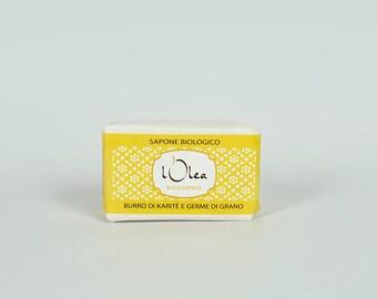 Sapone Naturale Biologico Burro di Karite' e Germe di Grano Natural Handmade Soap