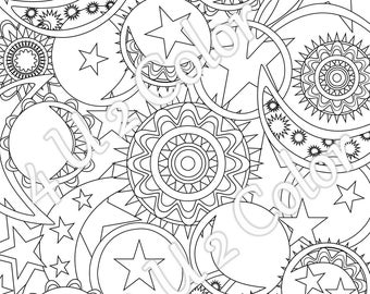 Adult Coloring Page Etsy