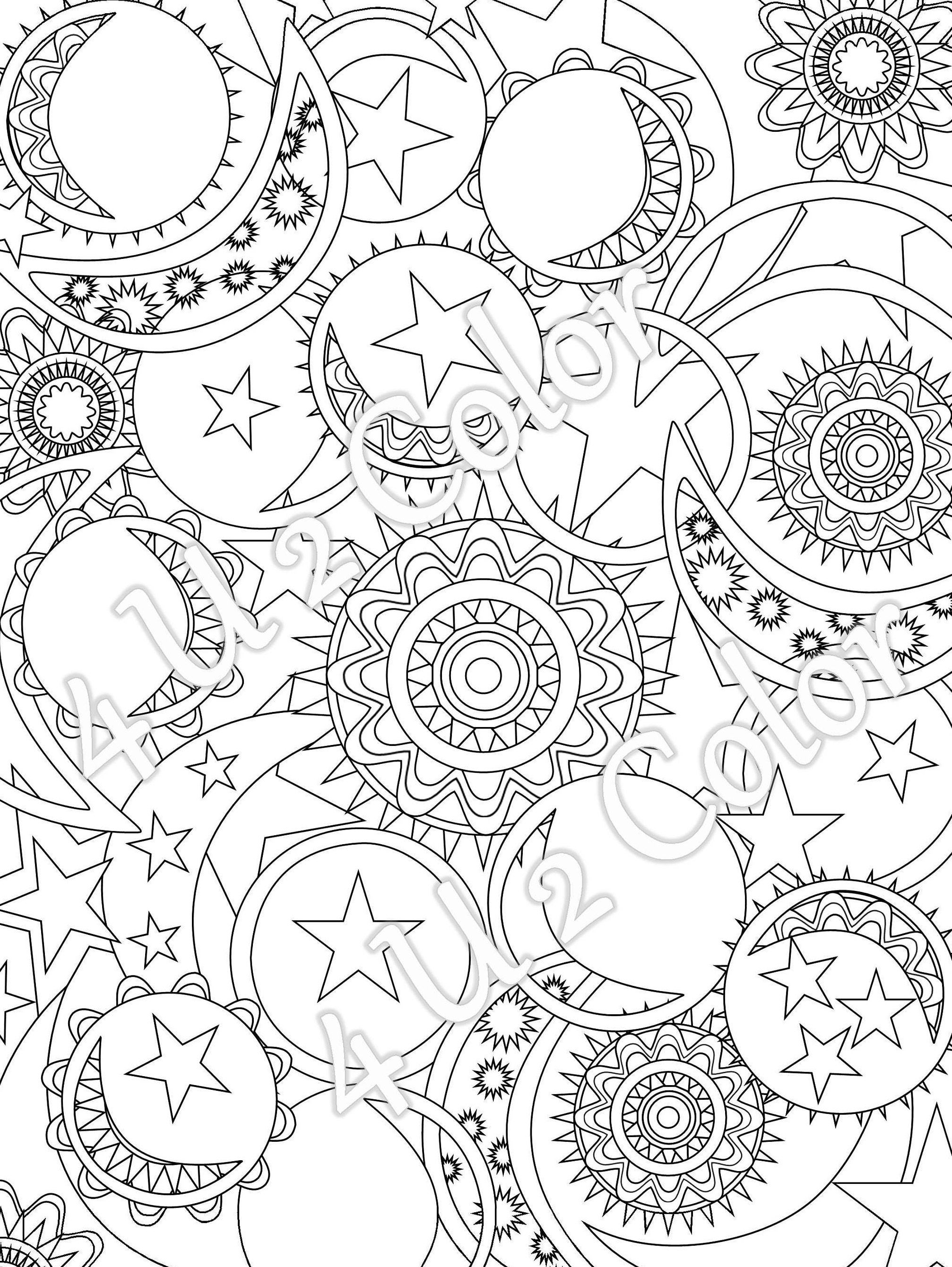 It is an image of Sizzling Sun And Moon Coloring Pages
