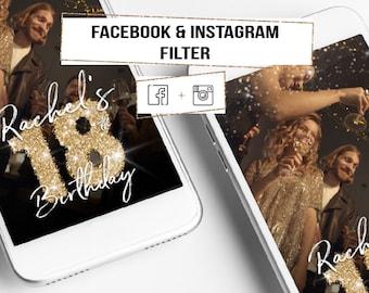 INSTAGRAM Birthday Filter! Facebook Filter, Instagram Story Filter, 18th Birthday Filter! Instagram Stories Filter, Birthday Party Filter!