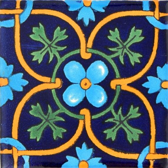 Color y Tradicion 9 Mexican Tiles 4 x 4 Hand Painted Talavera C172