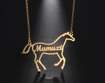 hunter ju gifts for horse lovers dressage barrel racer Life is better at the barn personalized horse name necklace gifts for her